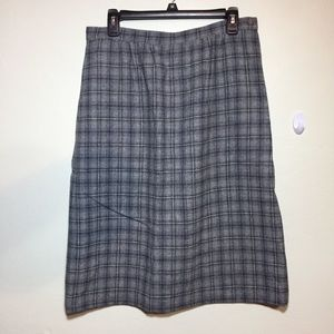 Pendleton Gray Plaid Wool Pencil Skirt Plus 14